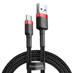 BASEUS Cafule USB-C Cable 200CM Black / Red