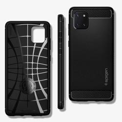 Etui SPIGEN Rugged Armor Samsung Galaxy Note 10 Lite Matte Black Czarne Case