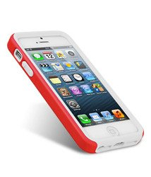 Pokrowiec iPhone 5 5S MELKCO Dual Layer RED / WHITE