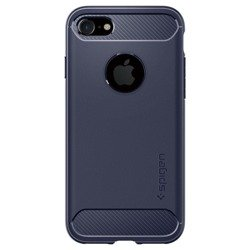 Etui SPIGEN Rugged Armor Apple iPhone 7 8 Midnight Blue Niebieskie Case