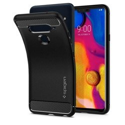 Etui SPIGEN Rugged Armor LG V40 Thinq Black Czarne Case
