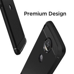 Etui SPIGEN Rugged Armor Motorola Moto Z2 Play Black Czarne Case