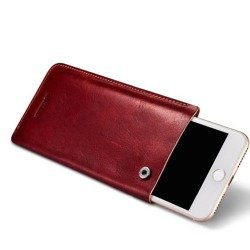 ICARER Leather Pouch iPhone 7/8 RED