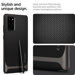 SPIGEN Neo Hybrid Чехол для Galaxy Note 20 Gunmetal Grey